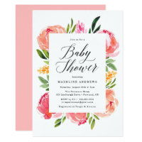 Vibrant Blooms | Baby Shower Invitation