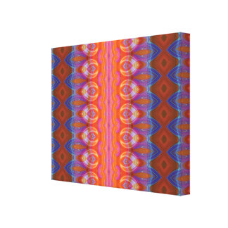 Vibrant blue and orange pattern canvas print