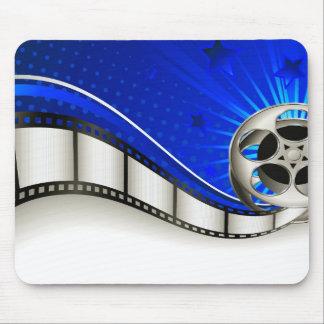 Vibrant Blue Film Reel Mousepad