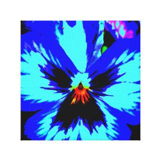 Vibrant blue flower, Nature photgraph Canvas Print