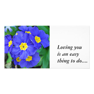 Vibrant Blue Loving youis an easything to do Photo Greeting Card