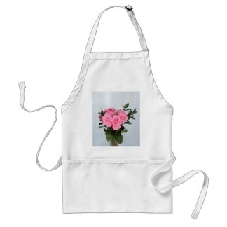 Vibrant Bouquet of Beautiful Pink Roses Adult Apron