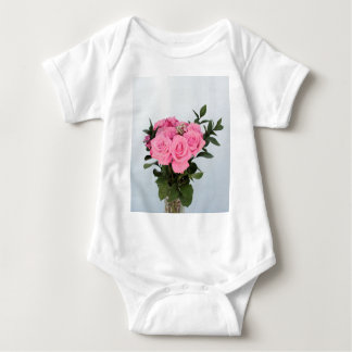 Vibrant Bouquet of Beautiful Pink Roses Baby Bodysuit