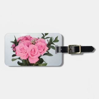 Vibrant Bouquet of Beautiful Pink Roses Bag Tag