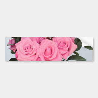 Vibrant Bouquet of Beautiful Pink Roses Bumper Sticker