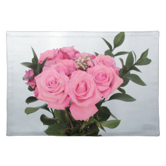 Vibrant Bouquet of Beautiful Pink Roses Cloth Placemat