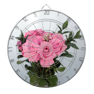 Vibrant Bouquet of Beautiful Pink Roses Dart Board