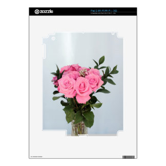 Vibrant Bouquet of Beautiful Pink Roses Decals For The iPad 2