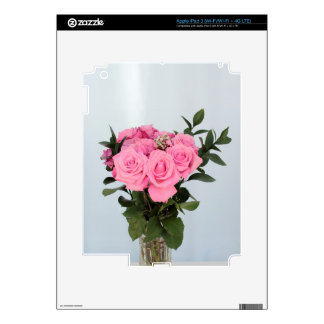 Vibrant Bouquet of Beautiful Pink Roses iPad 3 Decals