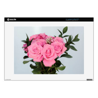 Vibrant Bouquet of Beautiful Pink Roses Laptop Decal