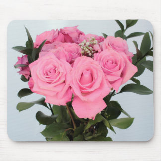 Vibrant Bouquet of Beautiful Pink Roses Mouse Pad