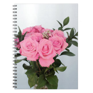 Vibrant Bouquet of Beautiful Pink Roses Notebook