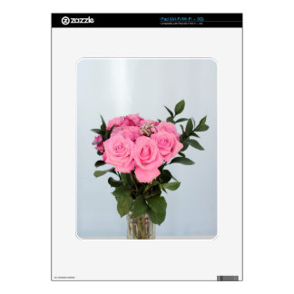 Vibrant Bouquet of Beautiful Pink Roses Skin For The iPad