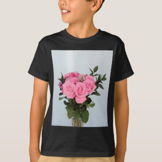 Vibrant Bouquet of Beautiful Pink Roses T-Shirt