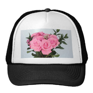 Vibrant Bouquet of Beautiful Pink Roses Trucker Hat