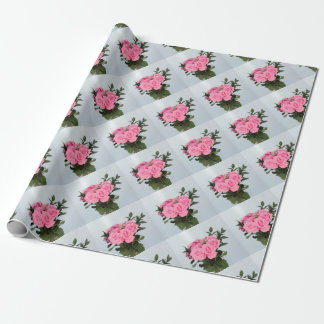 Vibrant Bouquet of Beautiful Pink Roses Wrapping Paper