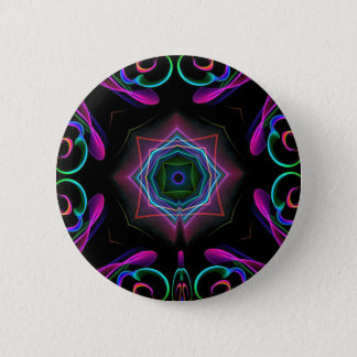Vibrant Bright Colorful Neon Abstract Button