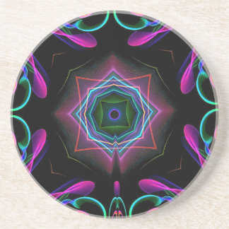 Vibrant Bright Colorful Neon Abstract Coaster