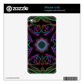 Vibrant Bright Colorful Neon Abstract iPhone 4 Decals