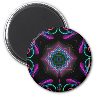Vibrant Bright Colorful Neon Abstract Magnet