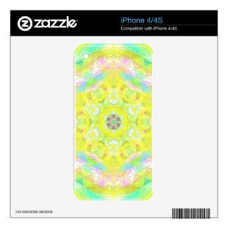 Vibrant Bright Lemon Lime Pastel Kaleidoscope iPhone 4S Decal