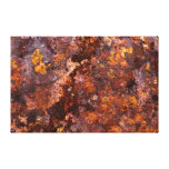 Vibrant Brown Rustic Iron Texture Stretched Canvas Prints