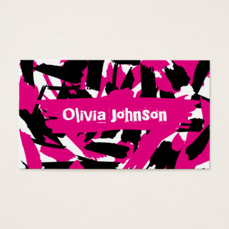 Vibrant Brushstroke Pattern Business Card