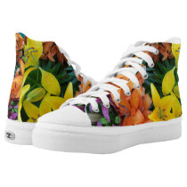 Vibrant Buds and Blooms! High-Top Sneakers