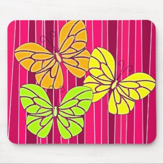 Vibrant butterfies mousepad mousepad