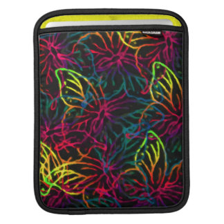Vibrant Butterflies on Black Sleeve For iPads