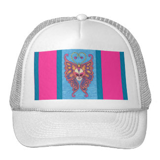 Vibrant Butterfly Mardi Gras Mask Hat