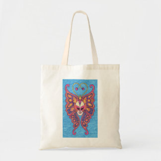 Vibrant Butterfly Mardi Gras Mask Tote Bag