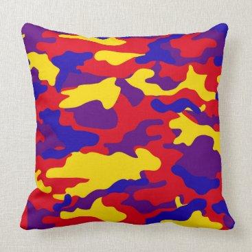 Vibrant Camouflage Throw Pillows