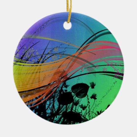 Vibrant Ceramic Ornament
