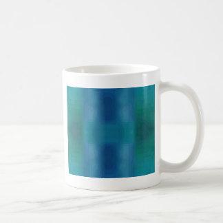 Vibrant Chic Aqua Blue Green Abstract Modern Desig Coffee Mug