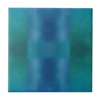 Vibrant Chic Aqua Blue Green Abstract Modern Desig Tile