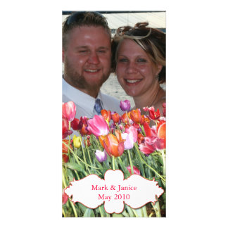 Vibrant Chicago Tulips Photocard Card