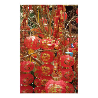 Vibrant Chinese New Year Lantern Display Stationery