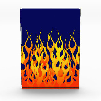 Vibrant Classic Racing Flames on Navy Blue Award