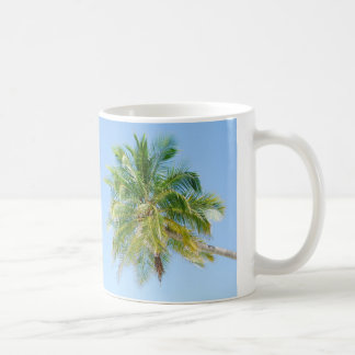 Vibrant coconut palm tree coffee mug