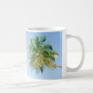 Vibrant coconut palm tree classic white coffee mug