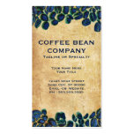 vibrant coffee beans business card