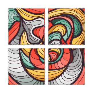Vibrant color abstract canvas print