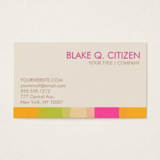 Vibrant Color Bar Business Card