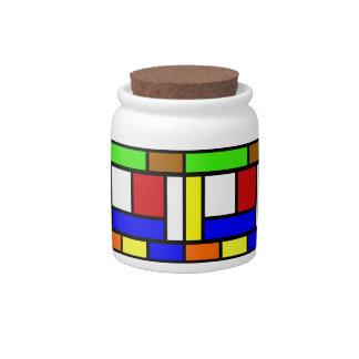 Vibrant Color Block Candy Jar