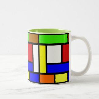 Vibrant Color Block Mug
