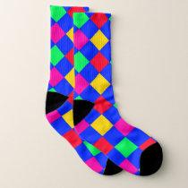 Vibrant color Diamond Pattern Socks