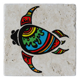 Vibrant color illustrated Turtle Trivet