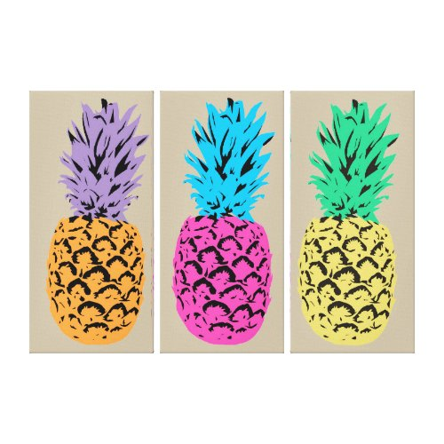 Vibrant Color Pineapples wall decorations