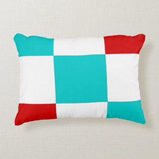 Vibrant color square pattern accent pillow